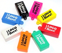 Imprinted SOLID COLOR Clickers (SAME COLOR TOP/BOTTOM)
